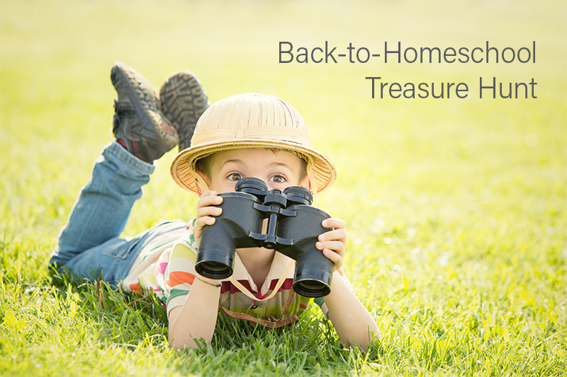 Back to Homeschool Treasure Hunt