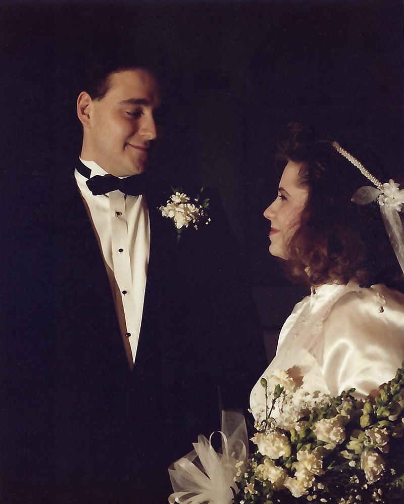 James and Nancy Manos wedding photo