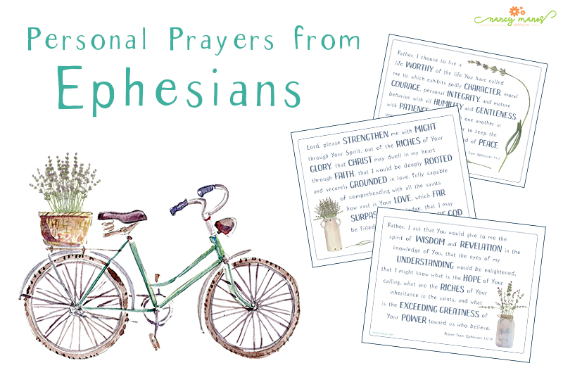 Personal Prayers from Ephesians - Digital Download - image