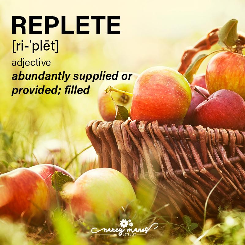 Vocabulary Fun - Replete
