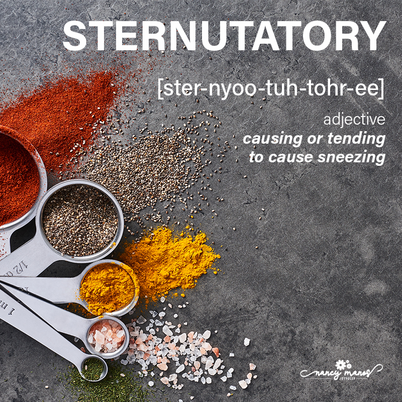 Vocabulary Fun - Sternutatory