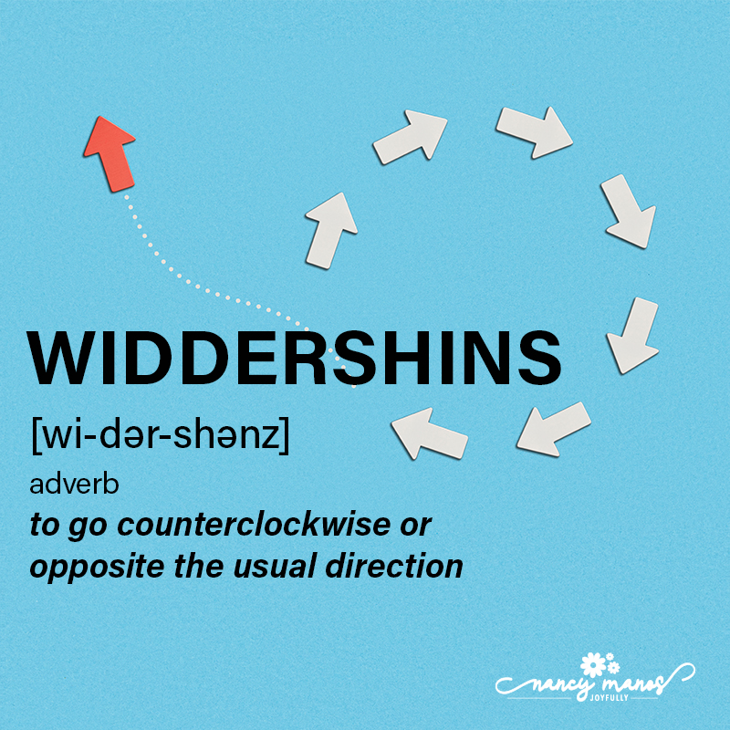 Vocabulary Fun - Widdershins